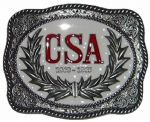 CSA 1860-1865 Belt Buckle with display stand. Code LK7